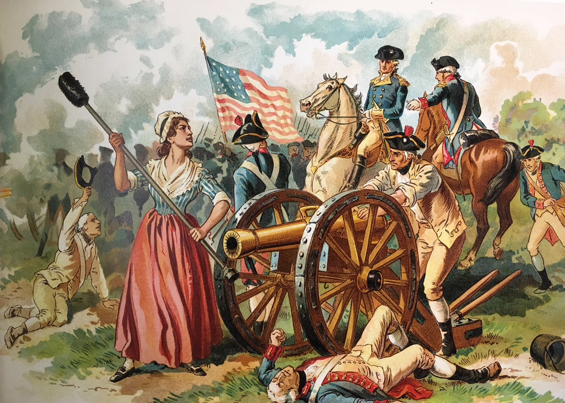 Molly Pitcher in battle