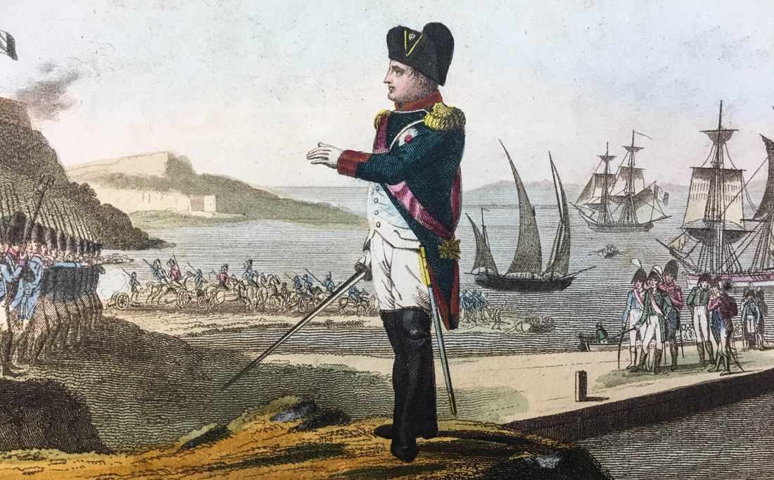 Napoleon reviewing troops